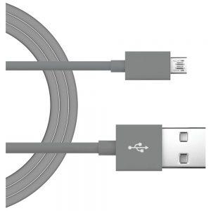 Just Wireless 705954051336 4 Feet Micro USB Charging Cord - Gray
