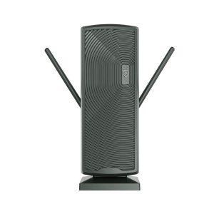 ANTOP(R) ANTENNA INC. AT-405BV DG AT-405BV Smartpass-Amplified Mini Tower Indoor/Outdoor HDTV Antenna (Dark Gray)