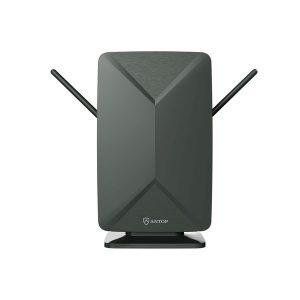 ANTOP(R) ANTENNA INC. AT-406BV DG AT-406BV Mini Big Boy Smartpass-Amplified Flat Panel Indoor/Outdoor HDTV Antenna (Dark Gray)