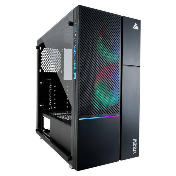 AZZA IRIS 330 CSAZ-330 Black Steel / Tempered Glass ATX Mid Tower Computer Case