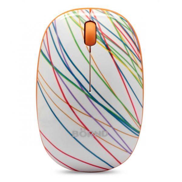 Bornd E220 Wireless 2.4GHz Optical Mouse (Slim-Rainbow)
