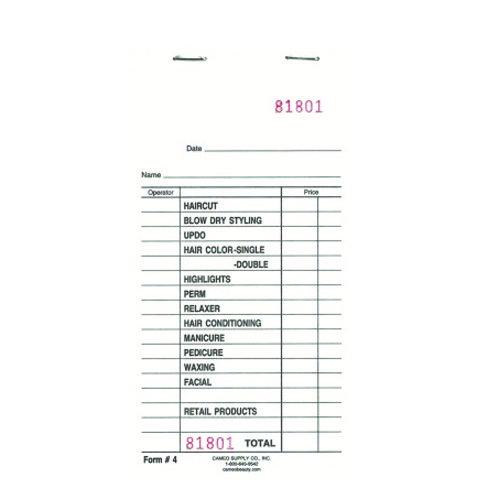 Cameo Check Pad Receipt Book