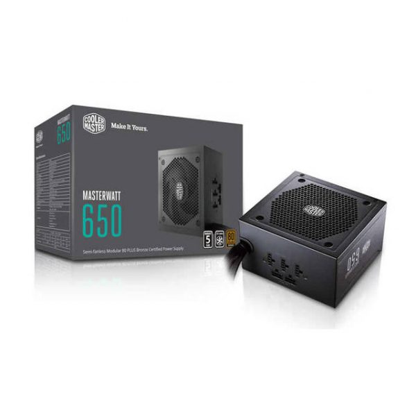 Cooler Master Masterwatt MPX-6501-AMAAB-US 650W 80 PLUS Bronze ATX 12V V2.4 Power Supply