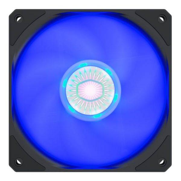 Cooler Master SickleFlow 120 V2 Blue led Square Frame Fan with  Air Balance Curve Blade Design