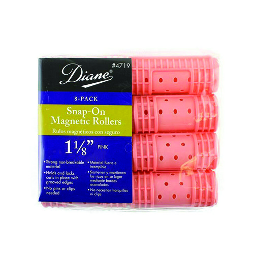 Diane 4719 Snap-On Magnetic Rollers Pink