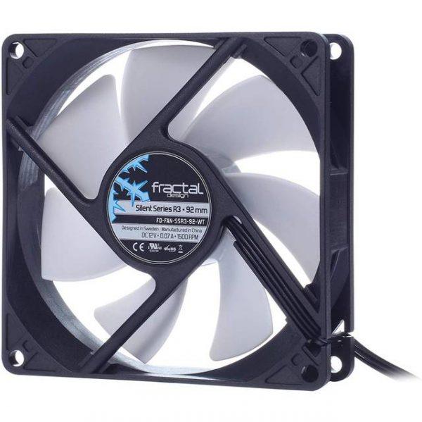Fractal Design FD-FAN-SSR3-92-WT Silent Series R3 92mm Case Fan