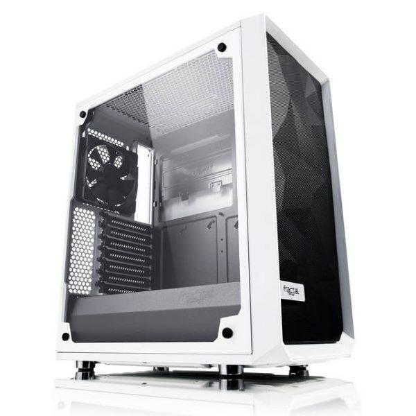 Fractal Design Meshify C - TG No Power Supply ATX Mid Tower (White)