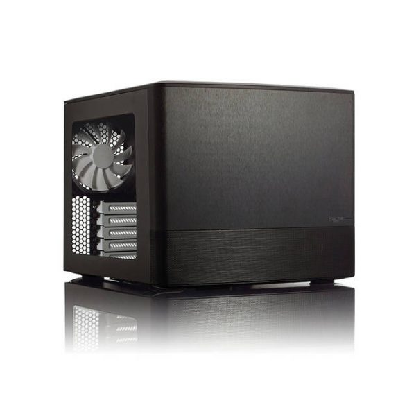 Fractal Design Node 804 No Power Supply MicroATX Cube Case w/ Window (Black)