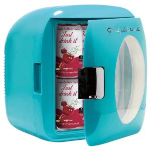 Frigidaire EFMIS462-BLUE 9-Liter 12-Can Portable Retro Mini Beverage Cooler
