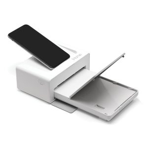 IHOME(R) IHDP46-W 2-in-1 Photo Printer and Lightning Dock