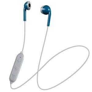 JVC HAF19BTAH Retro In-Ear Wireless Bluetooth Earbuds with Microphone (Blue)