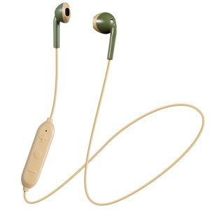 JVC HAF19BTGC Retro In-Ear Wireless Bluetooth Earbuds with Microphone (Green)