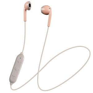 JVC HAF19BTPT Retro In-Ear Wireless Bluetooth Earbuds with Microphone (Pink)