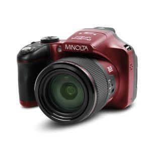 MINOLTA(R) MN67Z-R MN67Z 20.0-Megapixel 1080p Full HD 67x Optical Zoom Wi-Fi Bridge Camera (Red)