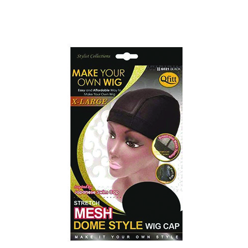M&M 5021 Stretch Mesh Dome Style Wig Cap Xlarge – Black Color
