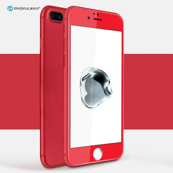 Pivoful PIV-I7PTGR iPhone7 Plus 3D Tempered Glass Film (Red)