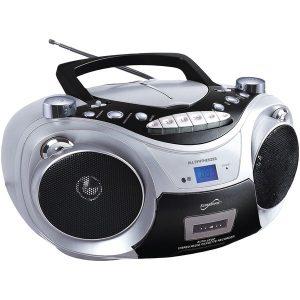 SUPERSONIC(R) SC-739BT SLV Portable Bluetooth Audio System (Silver)