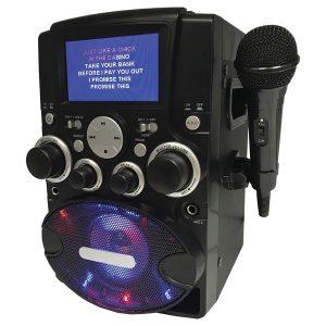 SYLVANIA(R) SKAR128 8-Watt-Max CD-G Bluetooth Karaoke Machine with LCD Screen and Microphone