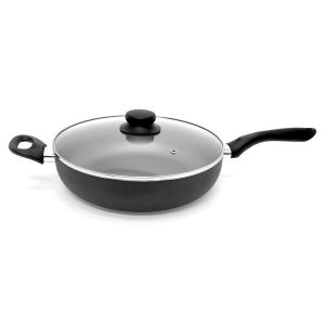 Starfrit Starbasix 034458-002-0000 11-Inch Nonstick Aluminum Deep Fry Pan with Lid
