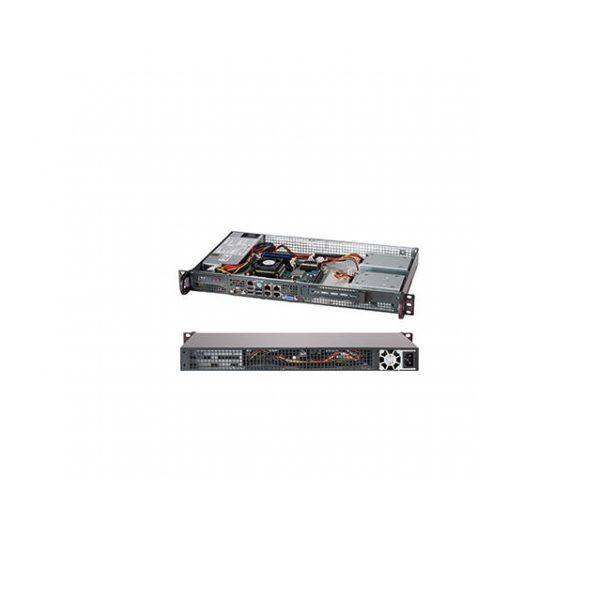 Supermicro SuperChassis CSE-505-203B 200W 1U Rackmount Server Chassis (Black)