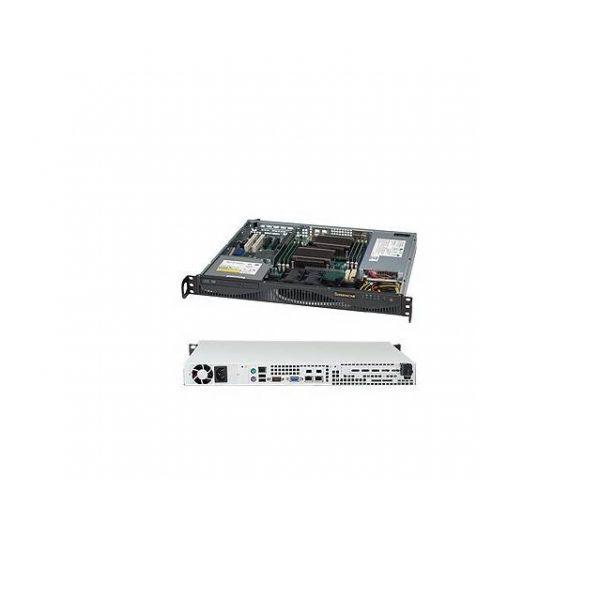 Supermicro SuperChassis CSE-512F-350B1 350W Mini 1U Rackmount Server Chassis (Black)