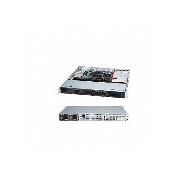Supermicro SuperChassis CSE-813MFTQC-R407CB 400W 1U Rackmount Server Chassis (Black)