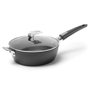 THE ROCK by Starfrit 034716-002-0000 THE ROCK by Starfrit 9-Inch Deep Fry Pan/Dutch Oven with Lid and T-Lock Detachable Handle