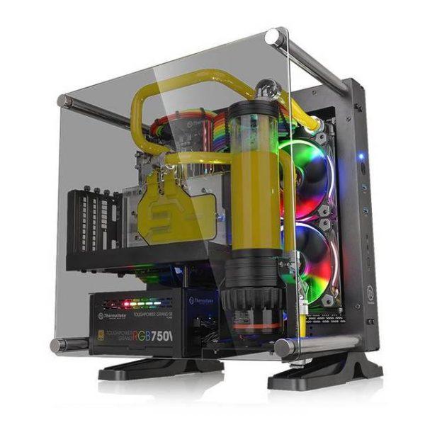 Thermaltake Core P1 TG Mini ITX CA-1H9-00T1WN-00 No Power Supply Mini-ITX Case (Black)