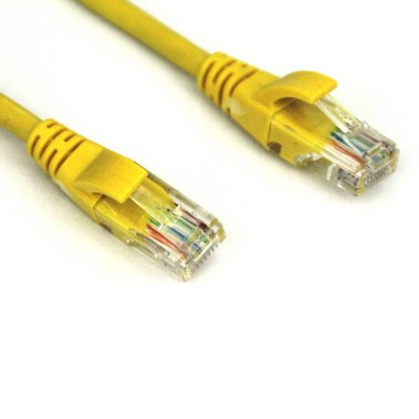 VCOM NP511-10-YELLOW 10ft Cat5e UTP Molded Patch Cable (Yellow)