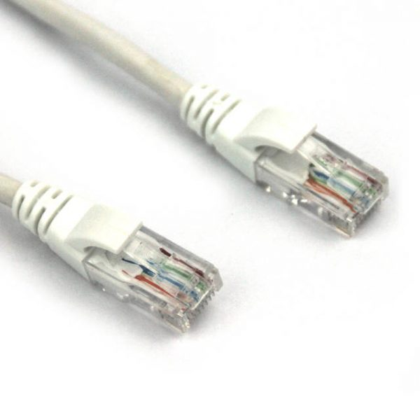 VCOM NP511-150-WHITE 150ft Cat5e UTP Molded Patch Cable (White)