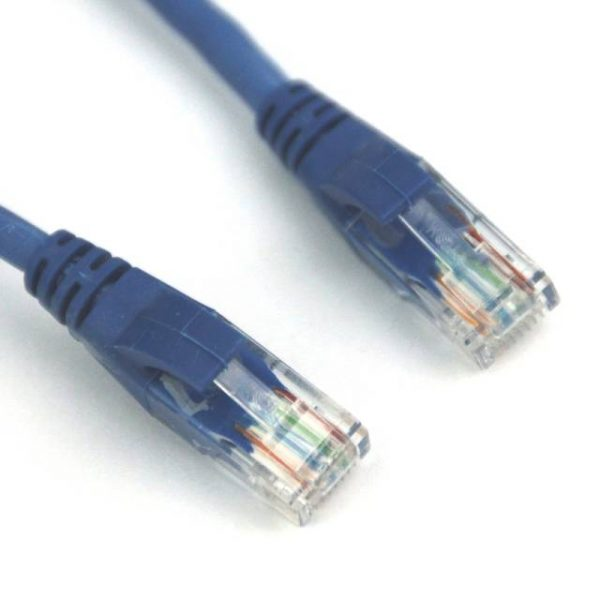 VCOM NP611-5-BLUE 5ft Cat6 UTP Molded Patch Cable (Blue)