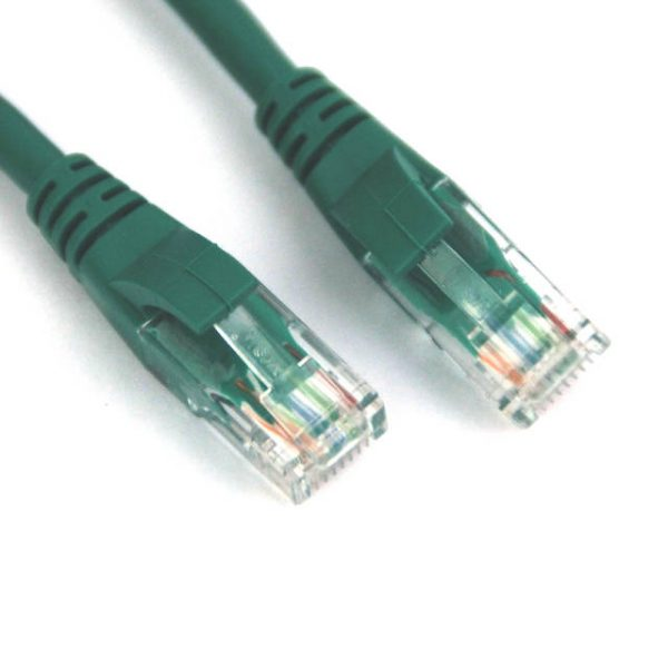 VCOM NP611-7-GREEN 7ft Cat6 UTP Molded Patch Cable (Green)