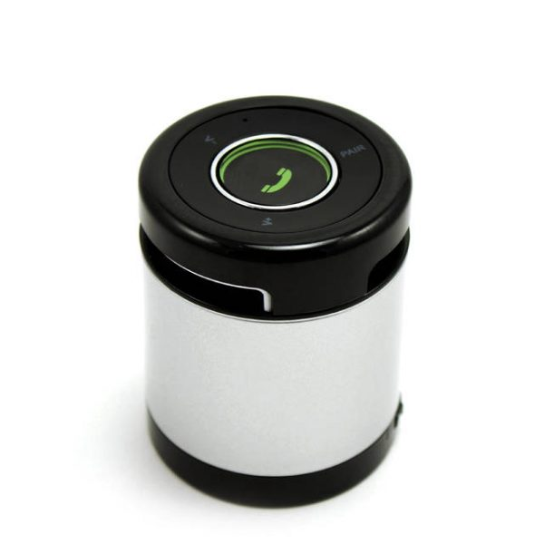 iKANOO BT012 Wireless Bluetooth/Wired 3.5mm Portable Speaker w/ Microphone & Volume Control (Silver)