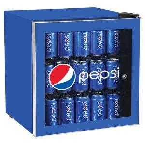 pepsi MIS165PEP 1.8 Cubic-Foot Compact Refrigerator with Glass Door
